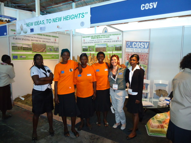 Francesca, Memory and Farmers in the COSV Stand